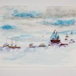 Sailboats, 2009-early 2010 (watercolor)